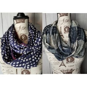 Michael Stars and AE Infinity Scarf (Set of 2)
